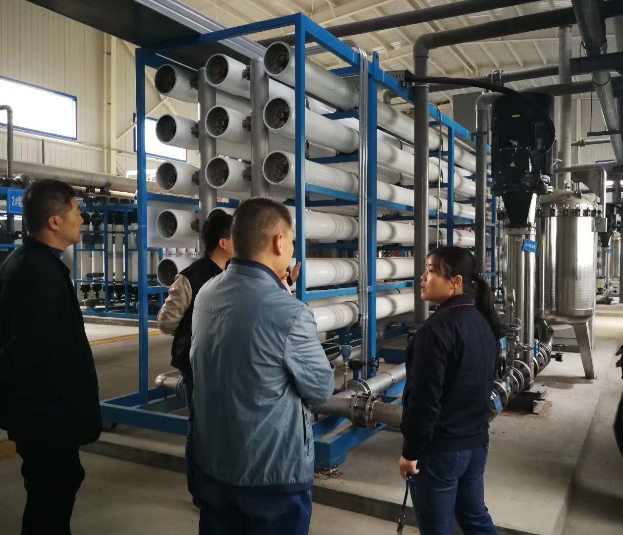 巴州火电厂2100m³/小时超滤+反渗透系统验收完成